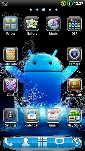 Cool Blue GO Launcher Theme