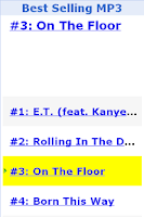 Screenshot of Best Selling MP3
