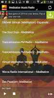 Screenshot of Meditation Music Radio