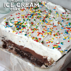Brownie Bottom Ice Cream Cake