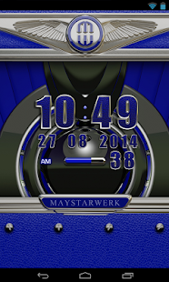 Clock Widget Blue Elephant Screenshot