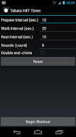 Screenshot of Tabata HIIT Timer (Ad free)