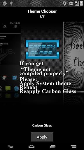 CarbonGlassLite ICS JB Theme