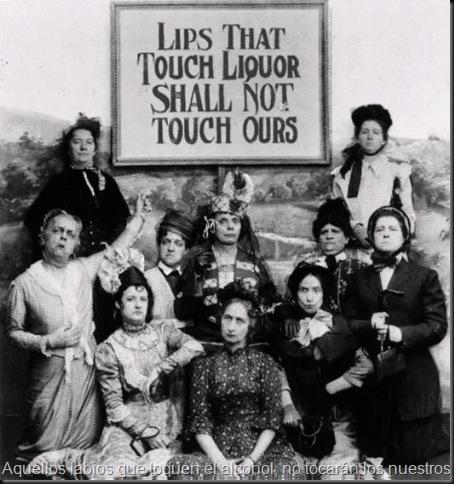 Aquellos labios que toquen el alcohol, no tocarán los nuestros