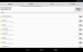 Screenshot of WiFi File Browser Pro