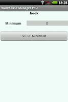 Screenshot of Warehouse Manager FREE