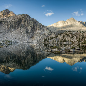 60 Lakes Basin by Walter Hsiao - Landscapes Mountains & Hills ( backpacking, reflection, national park, mountain, lake, kings canyon, 60 lakes basin, rae lakes loop )