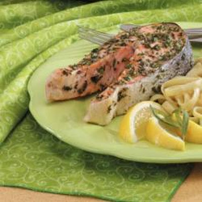 Tarragon Salmon Steaks