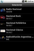 Screenshot of Radio Nacional Argentina