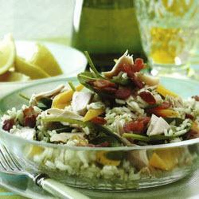Pesto Rice Salad With Tuna