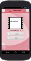 Screenshot of Video Zone
