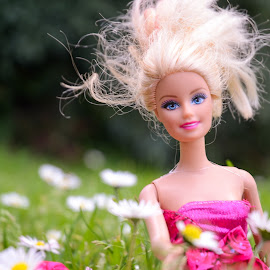 Barbie by Karina Cove - Artistic Objects Toys ( toy, outdoor, barbie, flowers, portrait )