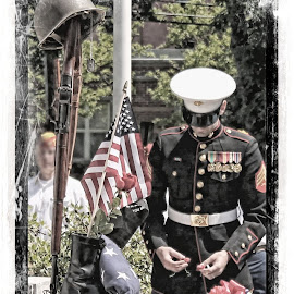Memorial Day by Frank Salvaggio - News & Events US Events ( soldier, memorial day, american flag, marines, respect )