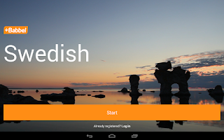 Screenshot of Learn Swedish with Babbel