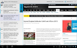 Screenshot of European Football RSS News