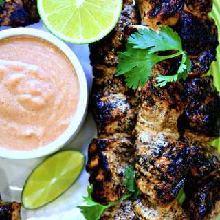 Ginger Soy Chicken Skewers | Thai Almond Satay