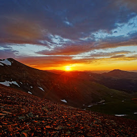 Sunrise on Mt Lincoln by Justin Giffin - Landscapes Sunsets & Sunrises ( clouds, mountains, rocky mountains, colorado, 14ers, sunrise, Hope,  )
