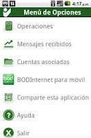 Screenshot of BODMovil