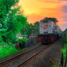 Sunset...... by Indrawan Ekomurtomo - Transportation Trains