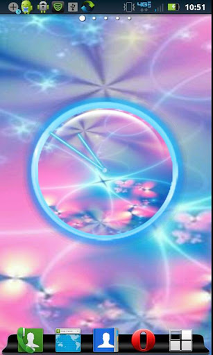 Abstract Butterfly Clock