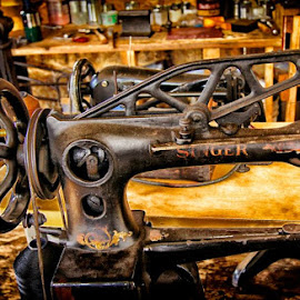 Old sewing machine in Woodside Harness Shop Pardeeville, WI by Jack Lippold - Novices Only Objects & Still Life