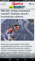Screenshot of iSport.cz