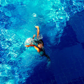 Wave Maker by Mohammed Aashik - Sports & Fitness Swimming ( blue, art, maker, wave, swimming,  )