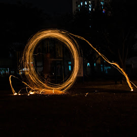 by Chun Hoone Yeoh - Abstract Light Painting