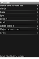 Screenshot of Dranklijstje