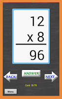 Screenshot of Math Multiplication FlashCards