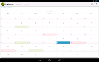Screenshot of Shia Calendar