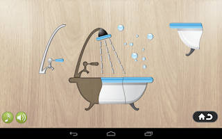 Screenshot of Kids Puzzle series - Bathroom