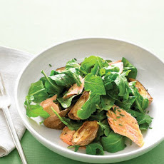 Arugula with Roasted Salmon and New Potatoes