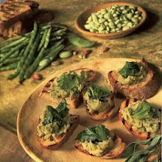 Grilled Bread with Fresh Shell Beans and Escarole