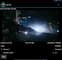 Screenshot of AirVid