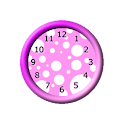 Girly Pink Clocks Widget