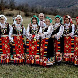 Bulgarian Singers by Glyn Thomas Jones - People Musicians & Entertainers ( singers, folk, tradition, traditional, group, bulgarian, people, bulgaria,  )
