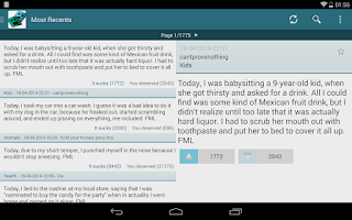 Screenshot of FML FMyLife.Droid