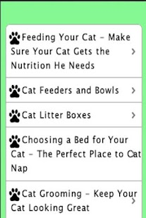 Screenshots  Cat Care