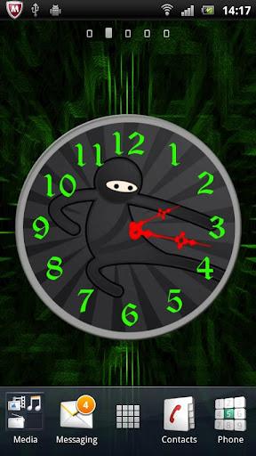 Ninja Clock Live Wallpaper