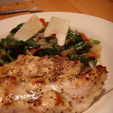 Classic Lemon Chicken with Sauteed Spinach