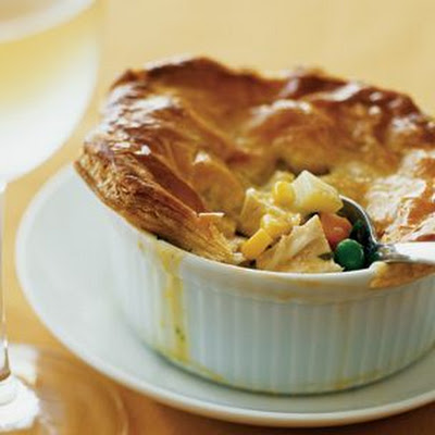 Puff-Pastry Chicken Potpies