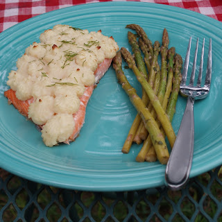 Baked Salmon with Duchess Potatoes or Pommes de Terre Duchesse