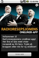 Screenshot of Radioresepsjonens Oneliner-app