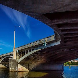 Bridge Jiraskuv in Prague by Martin Jahn - Buildings & Architecture Bridges & Suspended Structures ( vltava, czech republic, bridge, prague, river )