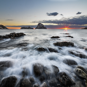 sunset paradise by Inma  Monte Picante - Landscapes Waterscapes ( cala d'hort, ibiza, es vedra, sunset, beach )