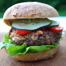 Parsnip And Pine-nut Soya Veggie Burger With Homemade Bun