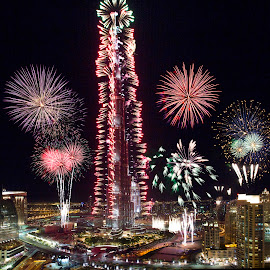 Burj Khalifa Fireworks - Version 2 by Syed Ali Adeel Bukhari - News & Events World Events