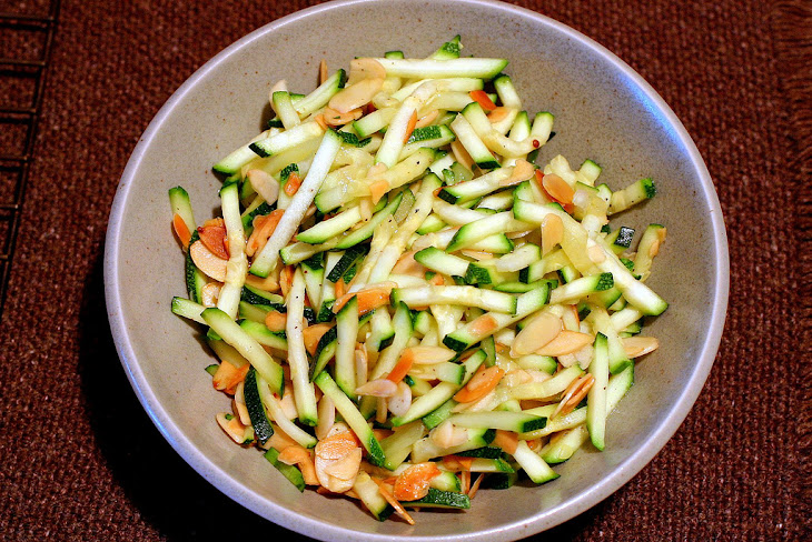 Quick Sauté of Zucchini with Toasted Almonds Recipe | Yummly