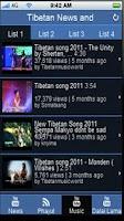 Screenshot of Tibetan News & Music